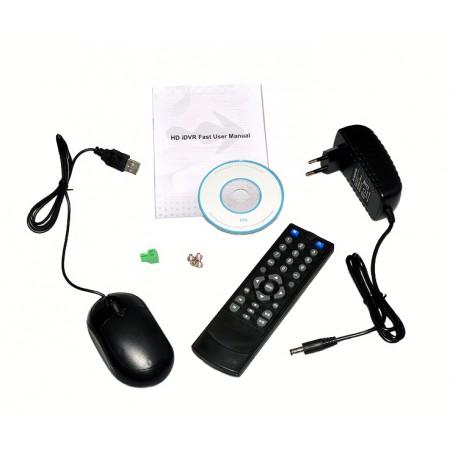 Kit videosurveillance DVR  16  + 8 Camera PL-50W + 8 Camera WA-150PAL + 16x 20m cable BNC + 2 adaptateur 8en1 + 2 alim 5A