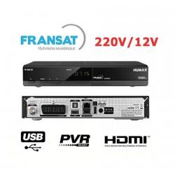HUMAX FR 1000 Démodulateur satellite Fransat HDMI Péritel USB PVR 220V 12V