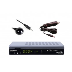 Décodeur Fransat Digihome HD + Déport infrarouge + Cable allume cigare - Compatible 12V camping