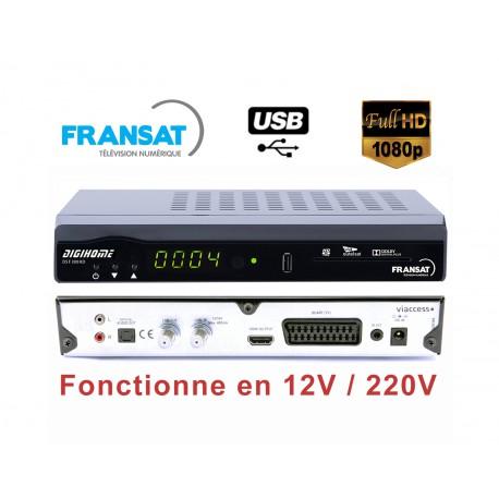 DIGIHOME DSF-300HD Terminal numérique FRANSAT TNT HD avec carte 12V 220V + HDMI 1,5M