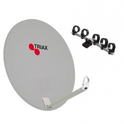 Kit parabole Triax 110 cm blanche + support 5 LNB