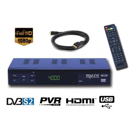 HD-LINE HD-250 Demodulateur satellite HD PERITEL FTA Chaines gratuites