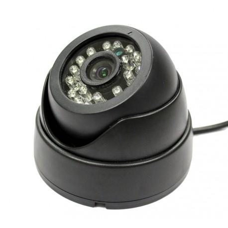 Camera de surveillance PL-50B Dome CCTV noire IR 24 LED - Couleur 420TVL plastique