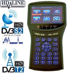 HD-LINE HD-7019 - Version 1 -  COMBO DVB-S2 / DVB-T2 + Spectre