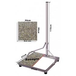 50x50 CHASSIS ACIER - SUPPORT PARABOLE POUR TERRASSE & BALCON FIXATION