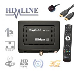 HD-LINE 1000 HD Démodulateur satellite FTA et IPTV LAN USB PVR WiFi 3G Mediacenter