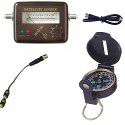 KIT SATFINDER POINTEUR SATELLITE + Boussole + Cable