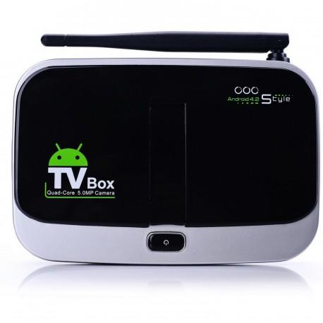 Smart TV Box QUAD-CORE Otto Box CS918S Mini PC Android 4.2 Quad Core A31 16 Go 2 Go 5MP caméra Webcam