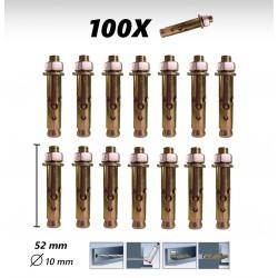100X Vis Cheville Béton 52mm à frapper 10mm diamètre