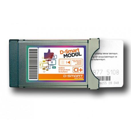 D-Smart Module CAM CI+ PayTV + abonnement 12 mois Chaines Moviessmart, Dizismart, BBC, Foxlife, Family, Sport...