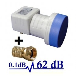 HD-LINE  LNB SINGLE  PRO  62db!! 0.1DB!! 1 TETE PARABOLE  1 SORTIE