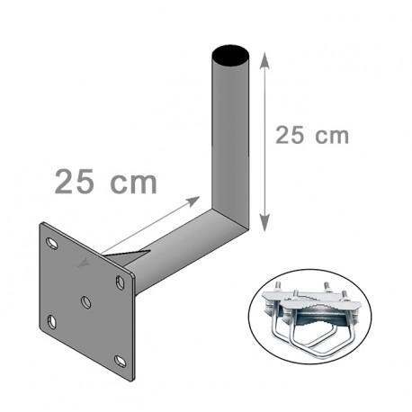 FIXATION ALU L BALCON  25X25cm ANTENNE ET PARABOLE