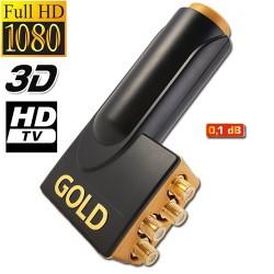 LNB QUAD MICRO GOLD connection 0.1 DB HDTV 55db