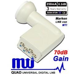LNB MTI QUAD 0.2 dB GAIN 70DB HIGH LINE AK54-XT2N