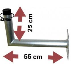 Fixation Murale L Antenne Et Parabole 25X55Cm