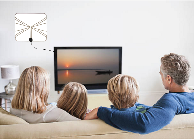 antenne tnt int rieure ultra fine amplifi e haute. Black Bedroom Furniture Sets. Home Design Ideas